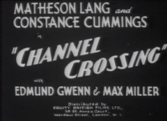 Channel Crossing 1933 DVD - Matheson Lang / Constance Cummings